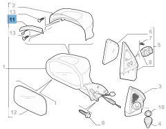 Intermitente lateral izquierdo para Fiat Professional Strada