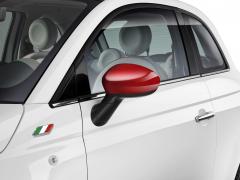 Carcasas de espejos retrovisores rojo brillante para Fiat 500
