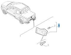 Luz matrícula derecha para Fiat Professional Strada