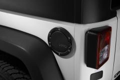 Tapón de combustible negro satinado con logo Jeep