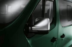 Carcasas cromadas para espejos retrovisores de furgón para Fiat Professional Talento