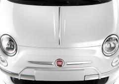 Protecciones cromadas en parachoques delantero para Fiat 500