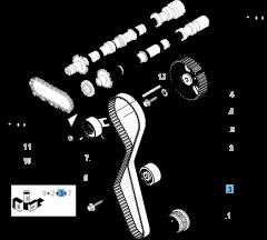 Correa de distribución con 118 dientes