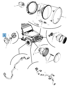 Intermitente lateral para Jeep Wrangler