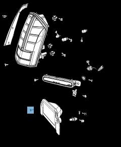 Luz matrícula para Lancia Thema