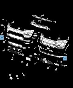 Parachoques delantero inferior para Jeep Grand Cherokee