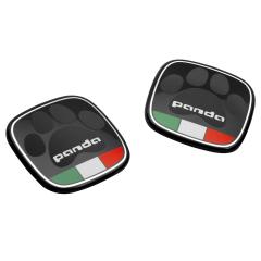 Distintivo Panda Con Bandera Italiana