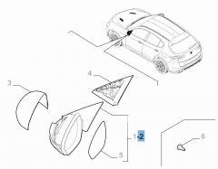 Espejo retrovisor exterior izquierdo para Alfa Romeo Stelvio