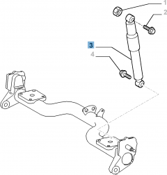 Amortiguador trasero para Fiat Professional Doblo