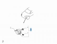 Luz antiniebla delantera izquierda para Fiat y Fiat Professional