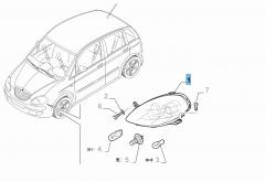 Faro delantero derecho para Lancia Musa