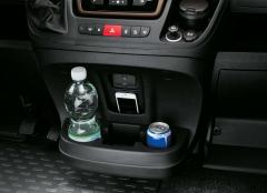 Portabebidas y portaobjetos salpicadero central para Fiat Professional Ducato