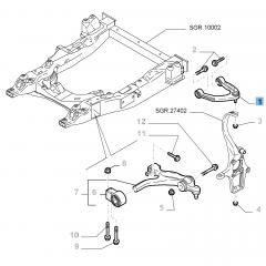 Brazo oscilante izquierdo para suspensión delantera superior para Alfa Romeo