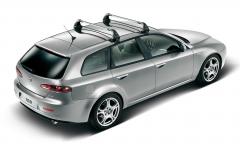 Barras portaobjetos de aluminio para techo para Alfa Romeo 159