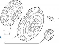 Kit embrague (plato, plato de presión y cojinete empuje axial) para Lancia Ypsilon