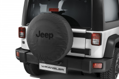Funda para rueda de repuesto con logo Jeep negro
