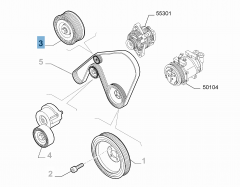 Tensor de correa fijo para Alfa Romeo
