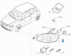Faro delantero izquierdo para Fiat y Fiat Professional