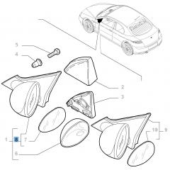 Espejo retrovisor exterior derecho eléctrico para Alfa Romeo GT