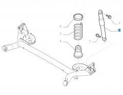 Amortiguador trasero para Fiat 500