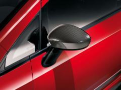 Carcasas para espejos retrovisores carbon look para Fiat