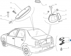 Luz matrícula para Fiat