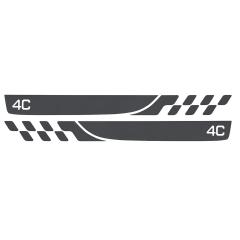 Tiras adhesivas para umbral de la puerta para Alfa Romeo 4C
