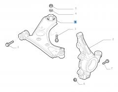 Brazo oscilante derecho para suspensión delantera para Fiat y Fiat Professional