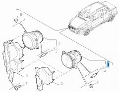 Luz antiniebla delantera para Fiat y Fiat Professional