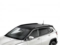 Barras longitudinales cromadas para techo para Jeep Compass