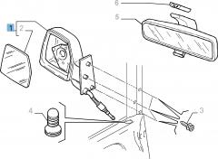 Espejo retrovisor exterior izquierdo manual para Fiat Professional Scudo