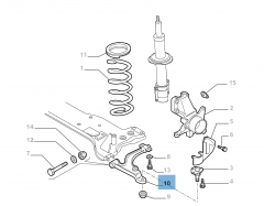 Brazo oscilante izquierdo para Fiat Professional Ducato