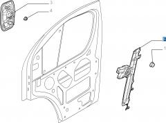 Elevalunas eléctrico delantero izquierdo para Fiat Professional Ducato
