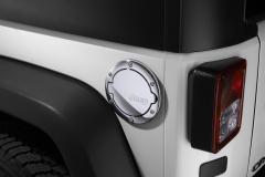 Tapón de combustible cromado con logo Jeep
