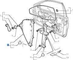 Elevalunas delantero derecho para Fiat y Fiat Professional