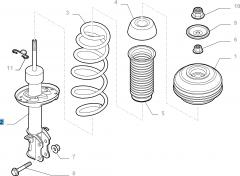 Amortiguador delantero izquierdo para Fiat y Fiat Professional