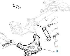 Brazo oscilante izquierdo para suspensión trasera para Fiat y Fiat Professional