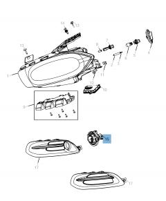 Luz antiniebla delantera para Jeep Compass/Patriot
