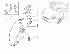 Faro delantero derecho para Fiat Bravo
