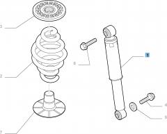 Amortiguador trasero para Fiat y Fiat Professional