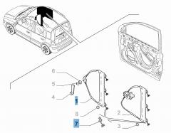 Elevalunas manual delantero derecho para Fiat y Fiat Professional