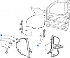Elevalunas mecánico delantero derecho para Fiat y Fiat Professional