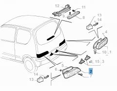 Piloto trasero izquierdo para Fiat y Fiat Professional