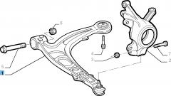 Brazo oscilante izquierdo para suspensión delantera