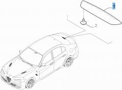 Luz de freno trasera para Alfa Romeo Giulia