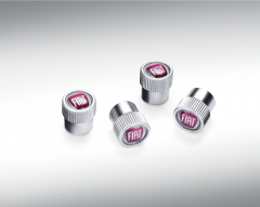Tapones para válvulas de neumáticos con logo Fiat para Fiat
