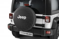 Funda para rueda de repuesto con logo Jeep blanco