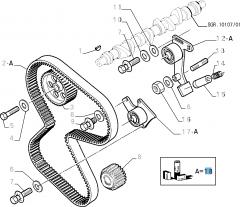 Kit de distribución (correa, tensor de correa fijo y regulable) - 3 piezas para Fiat y Fiat Professional