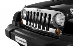 Rejilla delantera cromada para coche para Jeep Wrangler