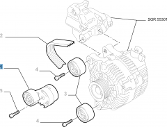 Tensor de correa regulable para Fiat Professional Scudo